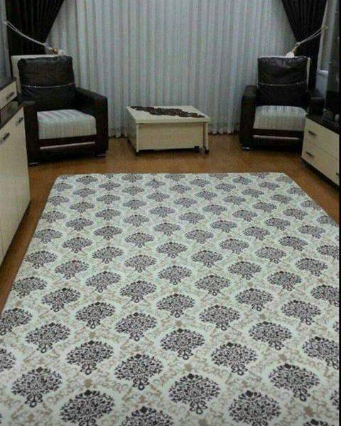 osmanlı desen lastikli halı örtüsü